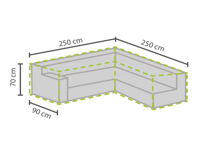 Schutzhülle Abdeckung L förmig für Loungemöbel, 250x250cm, Abdeckplane Lounge eBay ~ 08034606_Schutzhülle Garten Lounge L Form