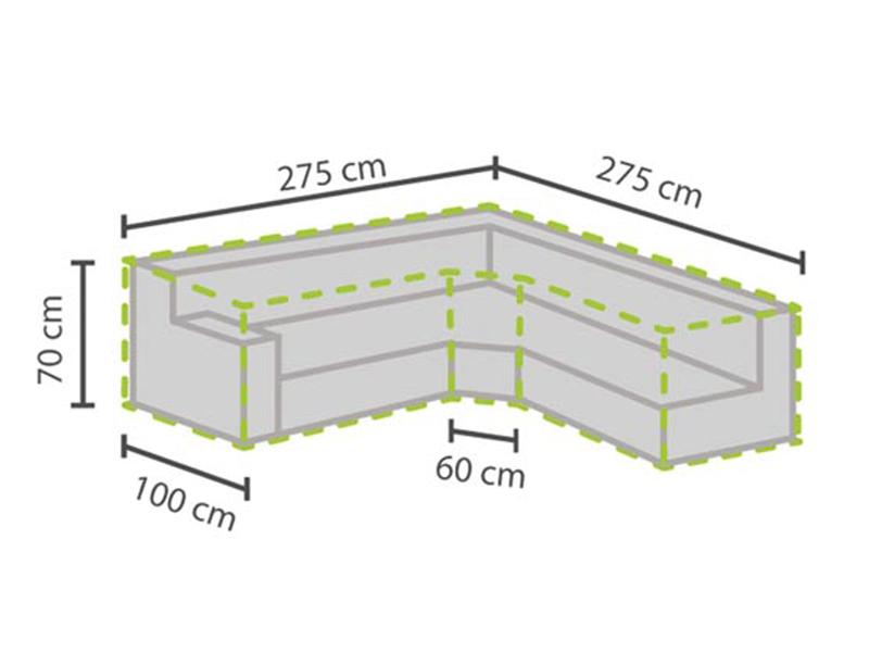 Schutzhülle Abdeckung Trapez für Garten Loungemöbel, 275x275cm Abdeckplane Folie eBay ~ 08034606_Schutzhülle Garten Lounge L Form