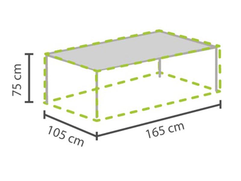 Gartenmöbel Schutzhülle / Abdeckung für Gartentisch max. 160cm ...