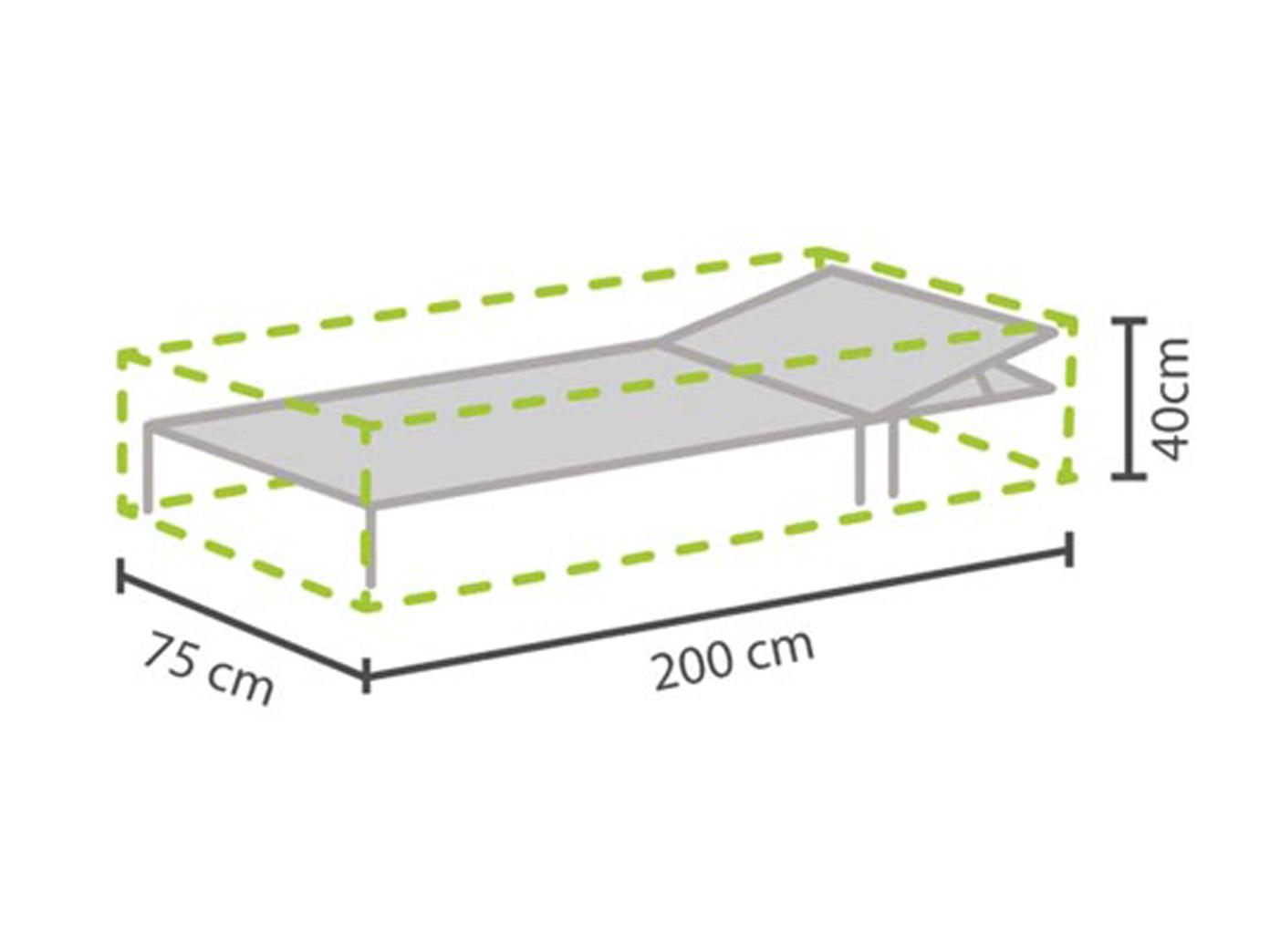 Gartenmöbel Schutzhülle Für Sonnenliege 200x75cm, Abdeckhaube Gartenliege  Liege