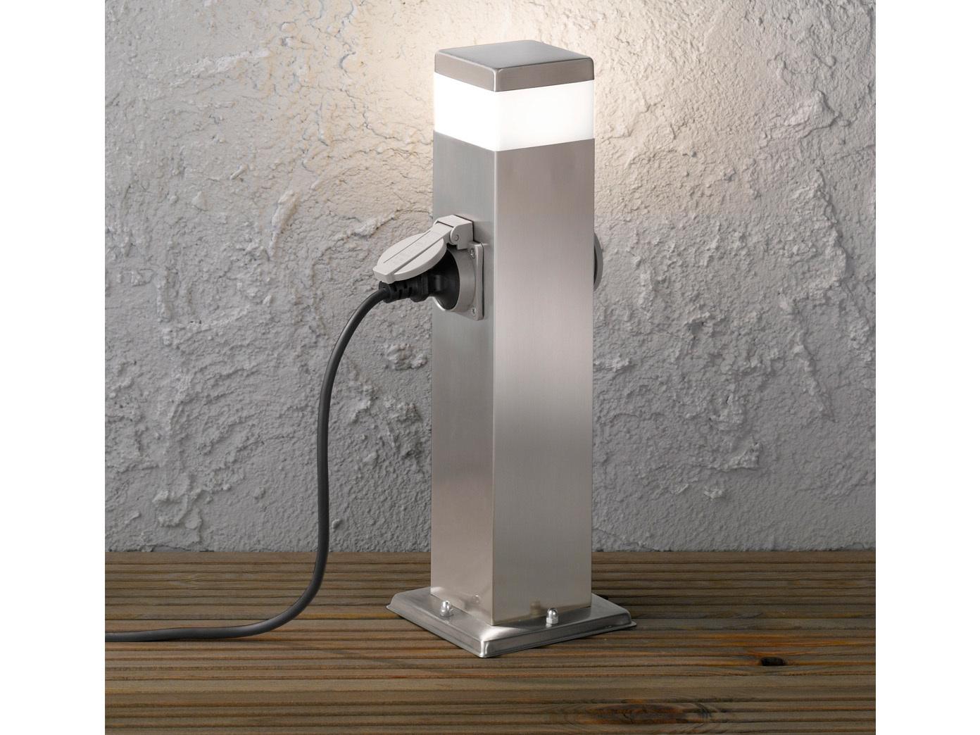 led wegeleuchte pollerleuchte 50cm mit 2 steckdosen. Black Bedroom Furniture Sets. Home Design Ideas