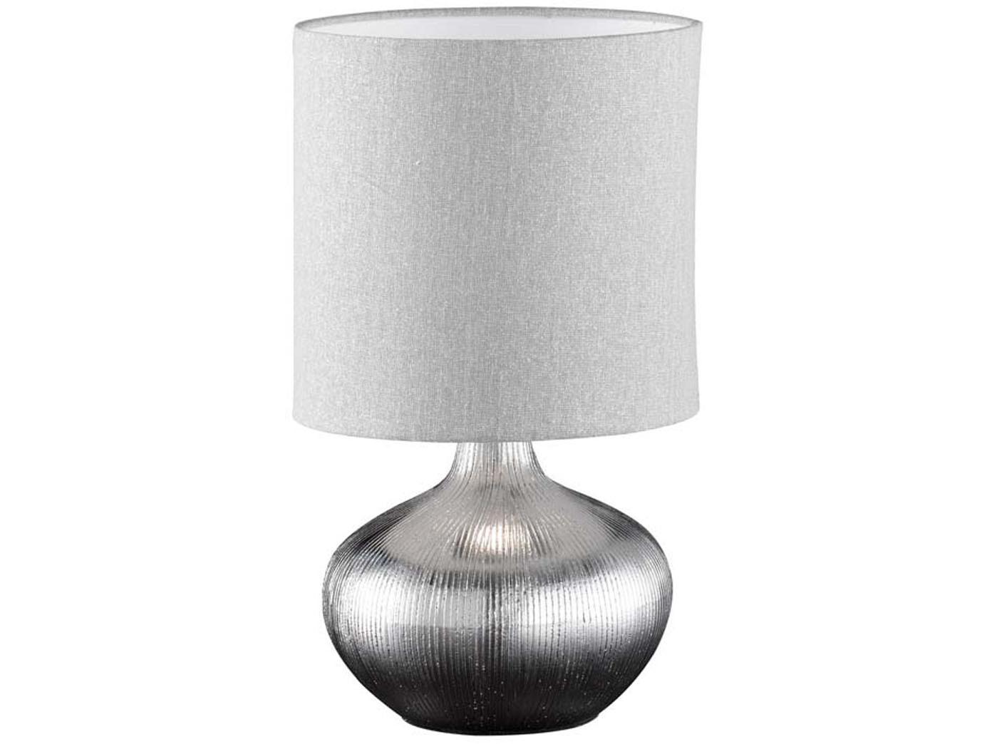 Faszinierend Keramik Tischleuchte Referenz Von Das Bild Wird Geladen Honsel-keramik-tischleuchte -ely-lampenschirm-stoff-grau-tischlampe-