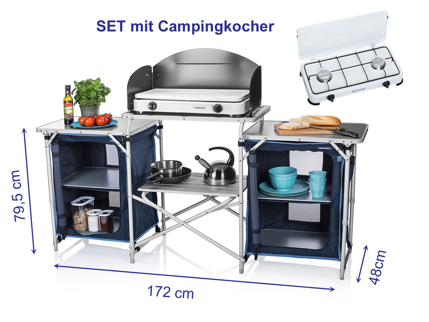 Outdoor Küche Edelstahl Xxl : Xxl campingküche faltbar set mit gaskocher outdoor camping küche