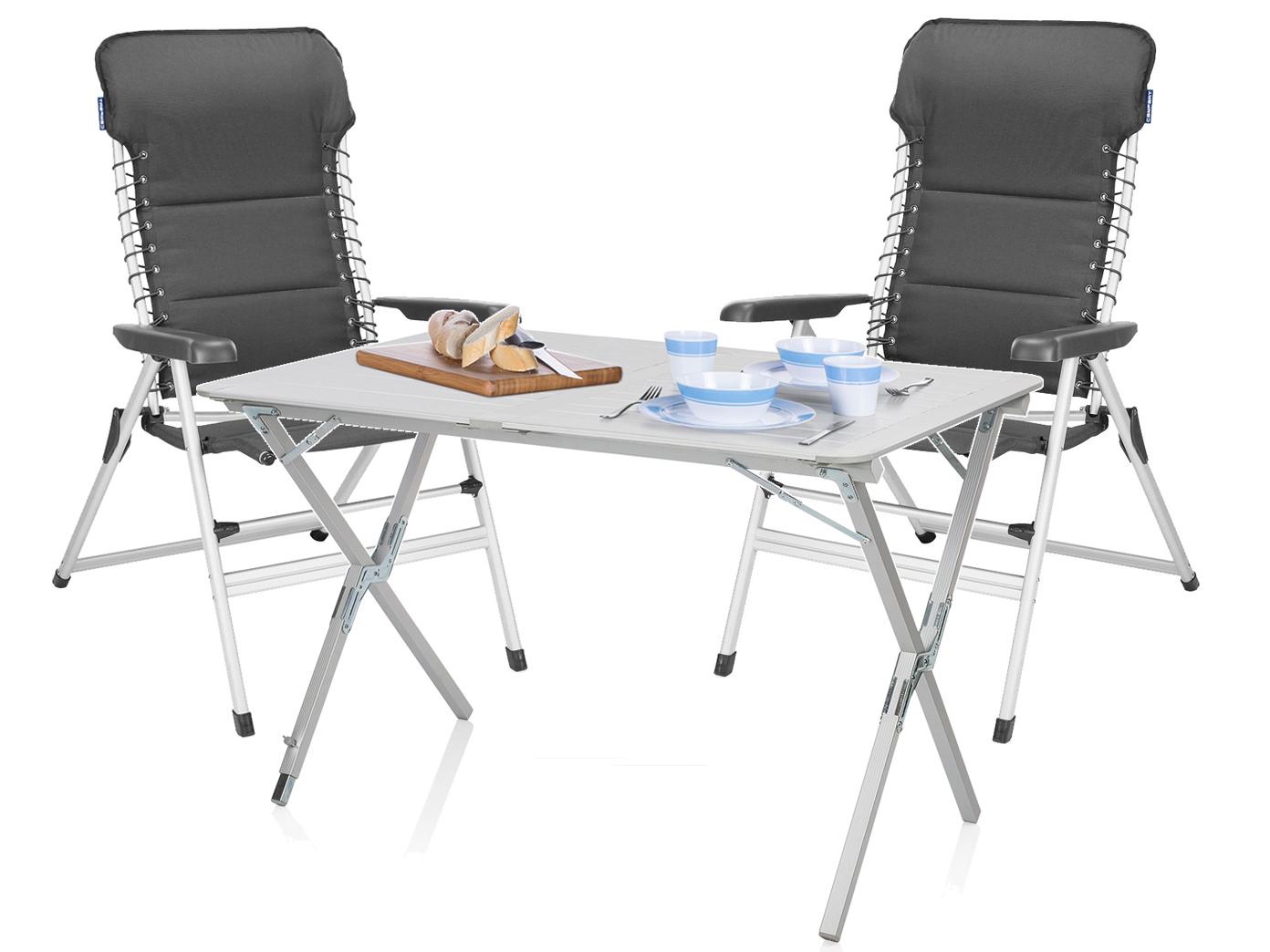 CAMPING SET ALU Campingtisch mit Stühlen Rolltisch Tisch und 2x ...