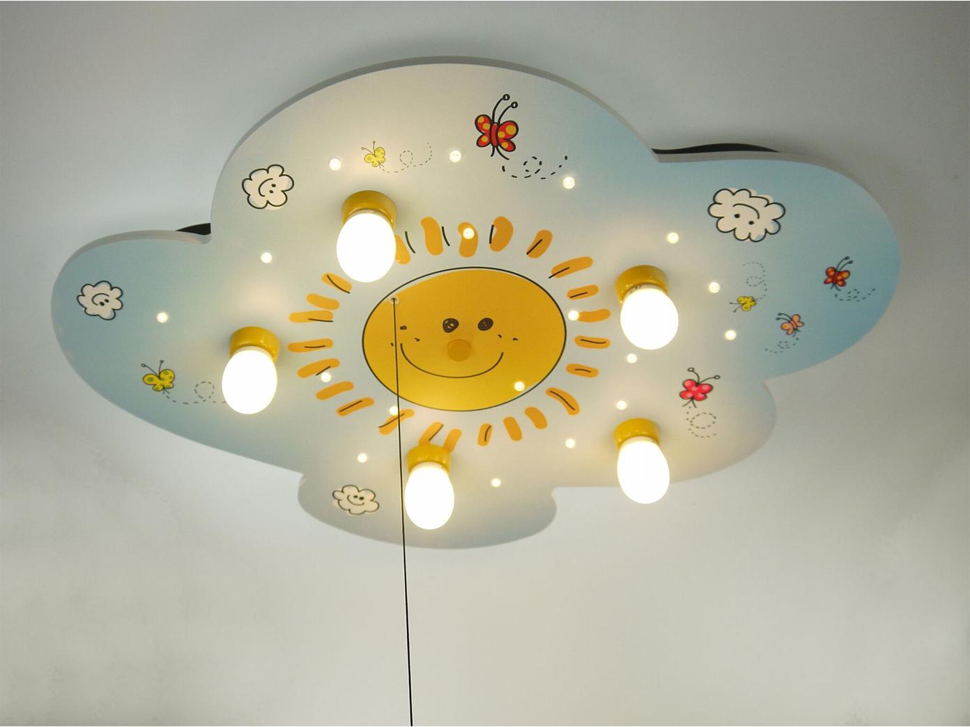 Plafón habitación infantil Alexa, apaga apaga Alexa, las nubes a lámpara luz de relajación Sunny 48a286
