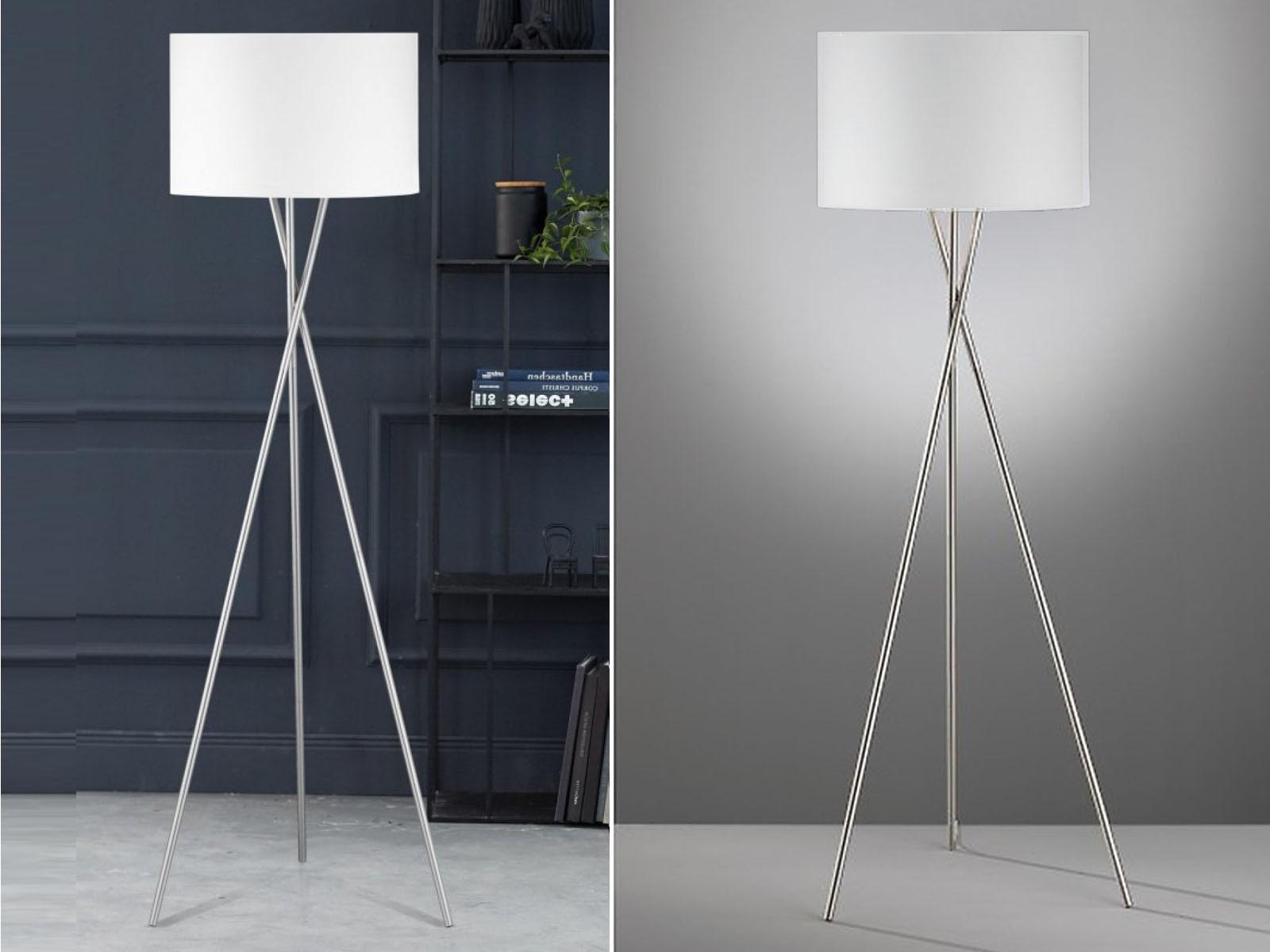 Verschiedene Stehleuchte Weiß Referenz Von Das Bild Wird Geladen Moderne-design-stehlampe-mit-lampenschirm-54cm-stoff- Weiss-