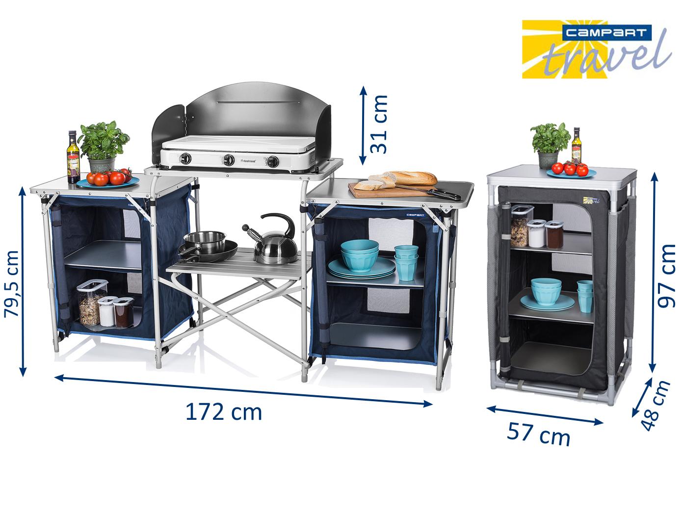Outdoorküche Camping Xxl : Xxl campingkÜche & campingschrank faltbar outdoor kochen küchenmodul