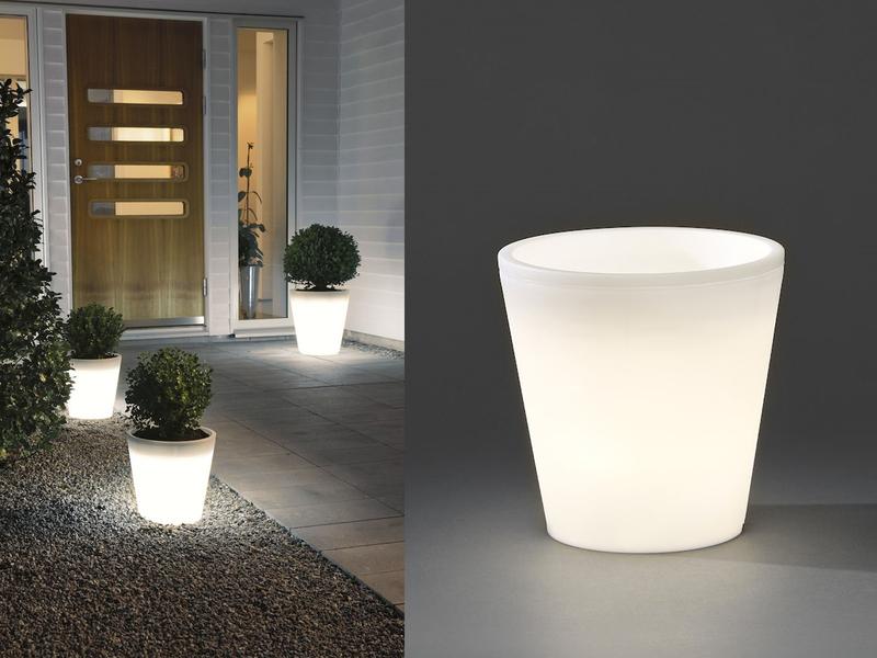 Beleuchteter Blumenkübel Outdoor LED Blumentopf Ø 37cm IP44 ...