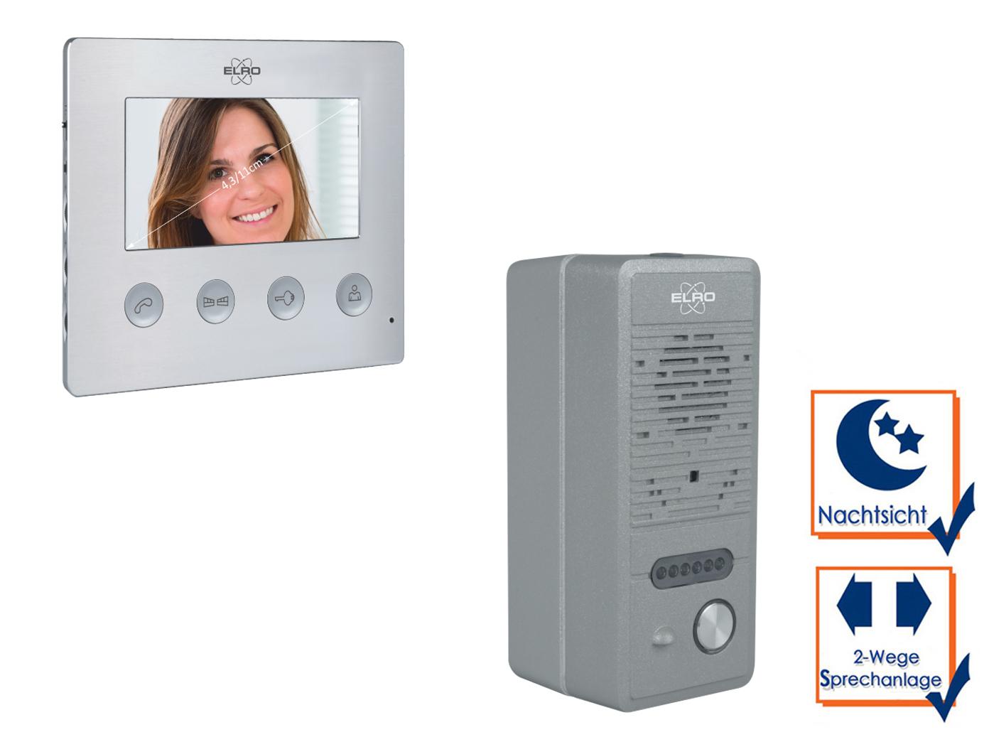 video gegensprechanlage mit monitor und lochkamera, freisprechanlage