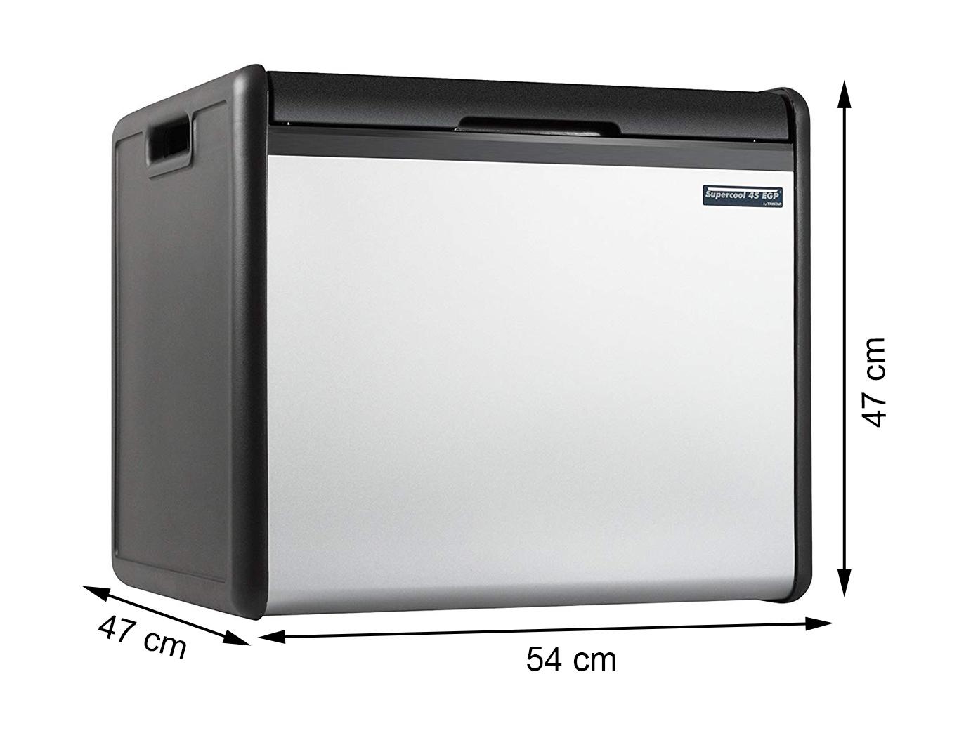 gro e k hlbox camping 39l gas betrieb edelstahlblende 12v 230v thermobox ebay. Black Bedroom Furniture Sets. Home Design Ideas