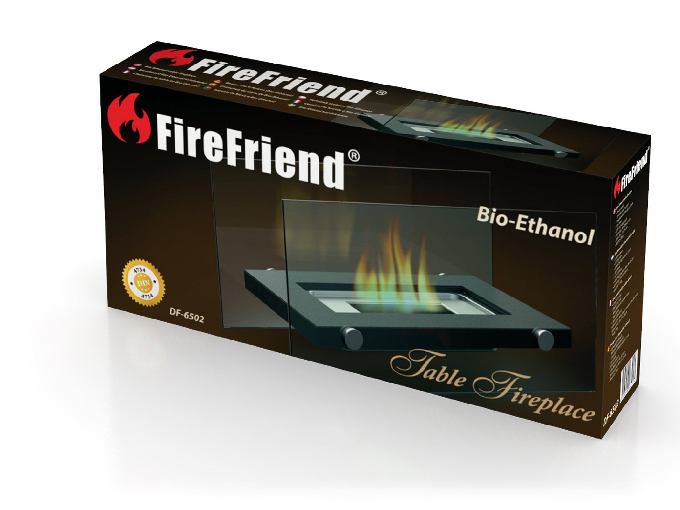 design tischkamin f r bio ethanol 34x17cm tischfeuer. Black Bedroom Furniture Sets. Home Design Ideas