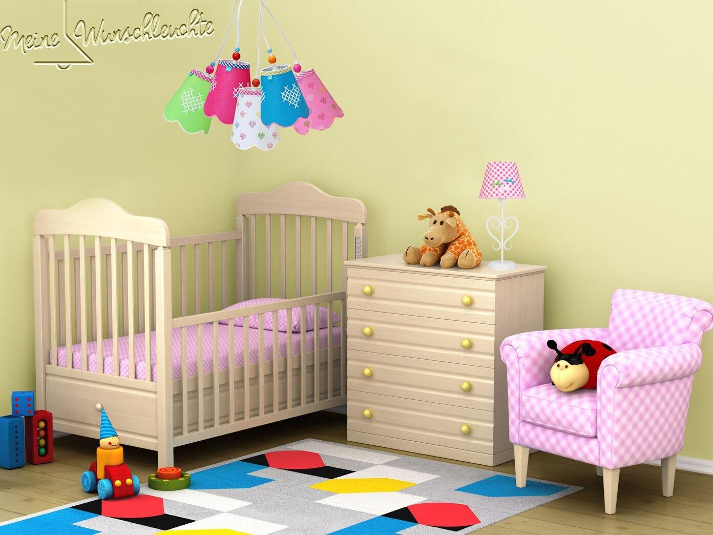 kinderzimmer deckenlampe kinderlampe h ngeleuchte rosa rot blau gr n wei eur 46 99 picclick it. Black Bedroom Furniture Sets. Home Design Ideas
