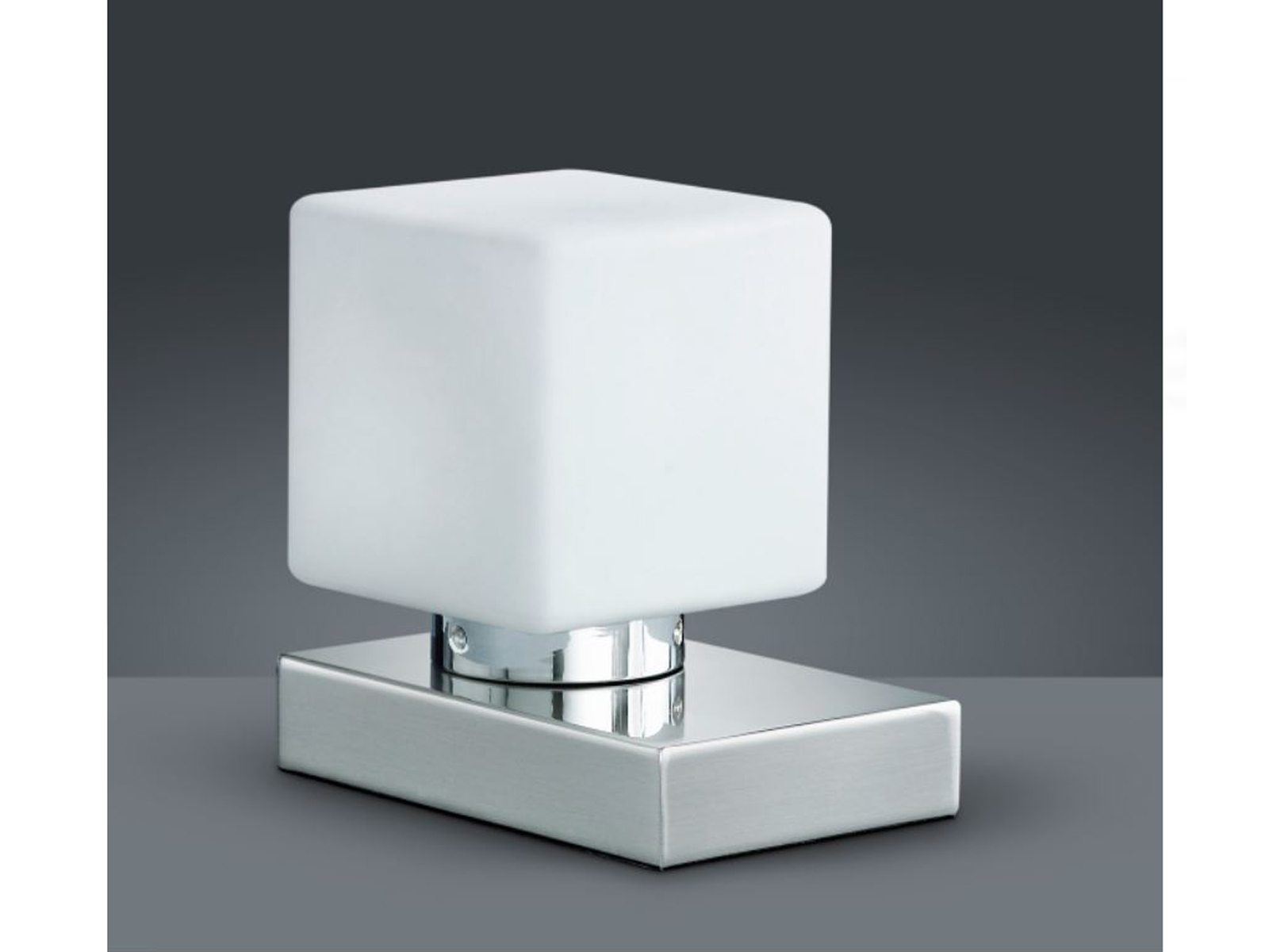 Tischlampe mit Dimmer / Touchdimmer, Glas weiß, Lampe Wohnzimmer Nachttisch