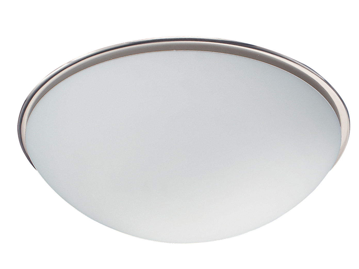 TRIO Deckenleuchte,1 x E27, Ø 30cm, Glas opal matt, Nickel matt