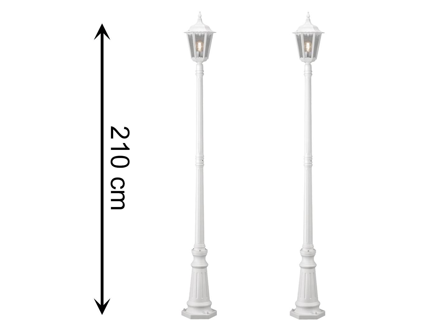 2er-Set Wegeleuchten Standleuchte FIRENZE, E27, E27, E27, Aluminium matt-weiß 830330