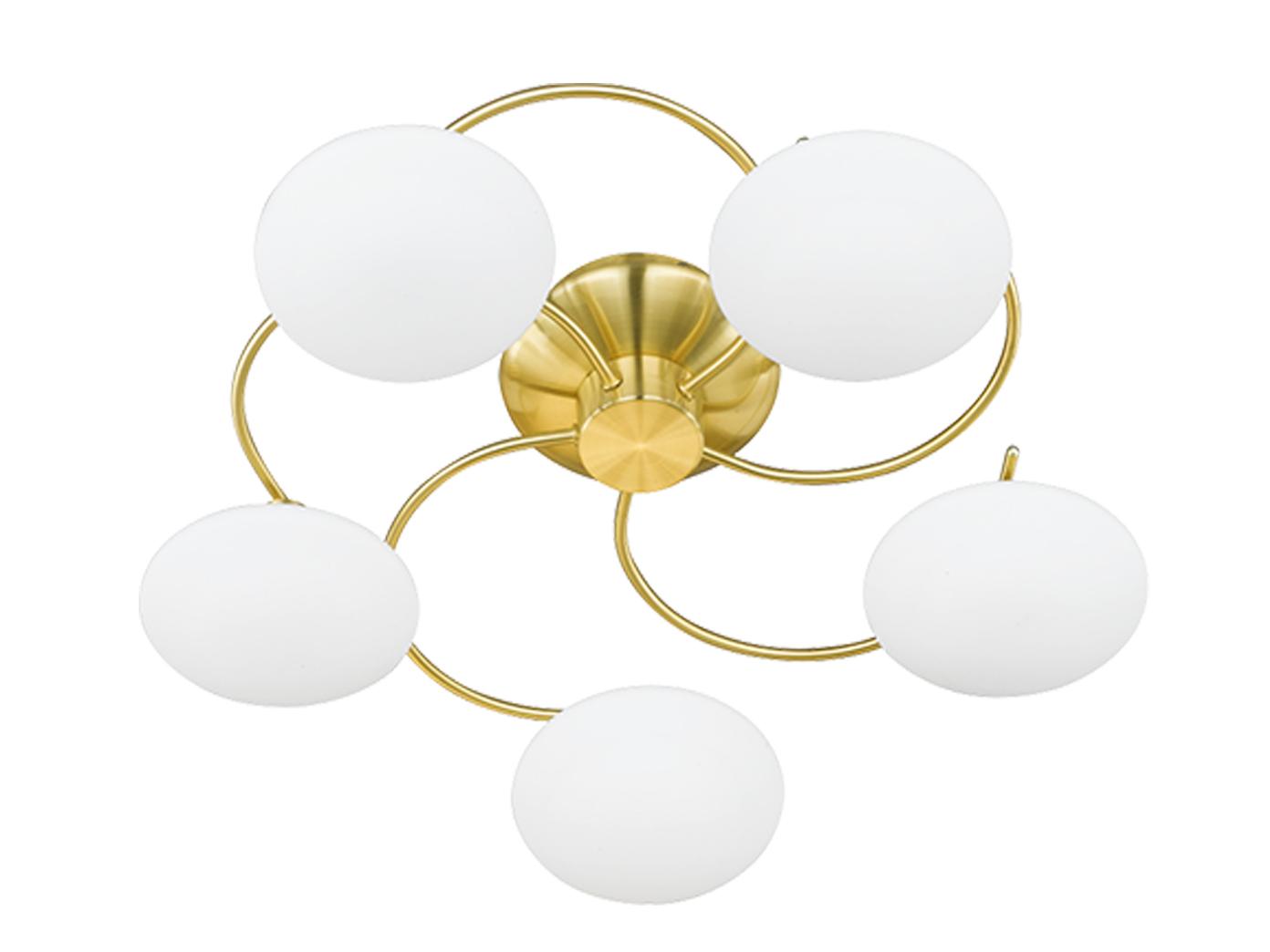Blickfang Messing Deckenlampe Beste Wahl Das Bild Wird Geladen Deckenleuchte-deckenlampe-messing -glas-weiss-design-spirale-trio-