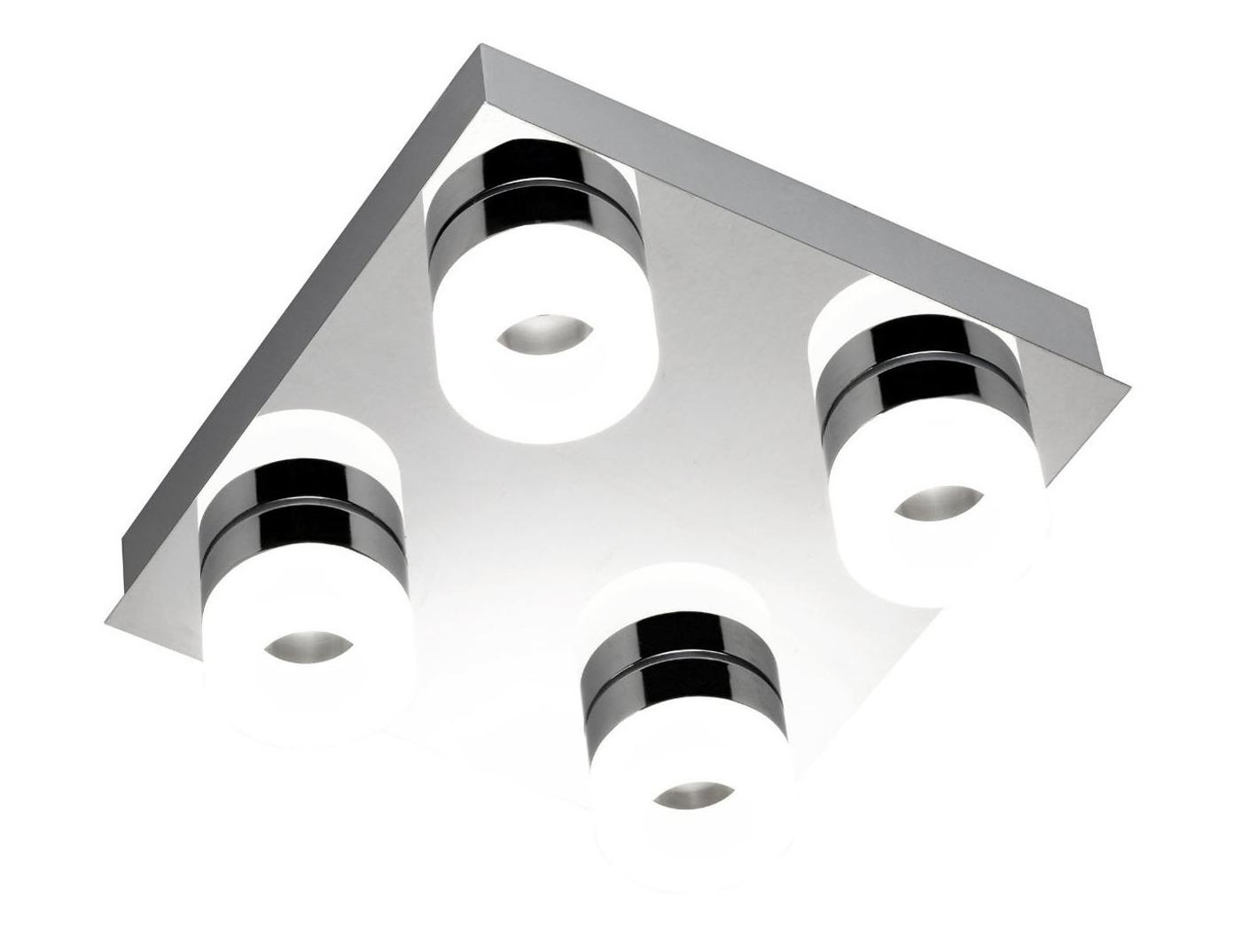 LED Deckenlampe fürs Bad, Chrom, IP23, 26x26 cm, Wofi-Leuchten | eBay