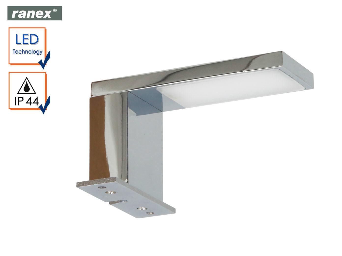 Moderne, Chrom glänzende LED Spiegelleuchte JESOLO fürs Badezimmer ...