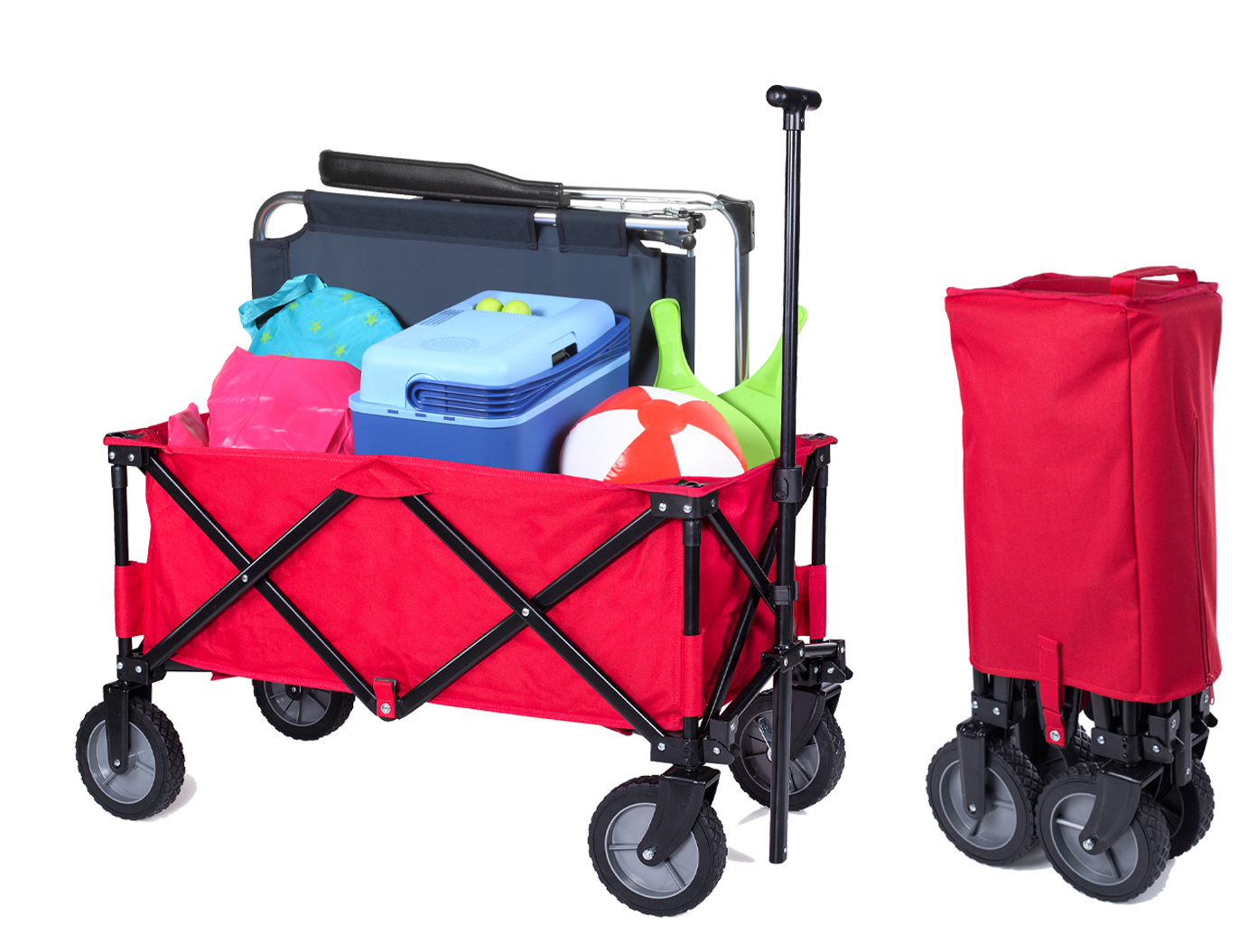 bollerwagen faltbar klappbar rot handwagen transportkarre. Black Bedroom Furniture Sets. Home Design Ideas