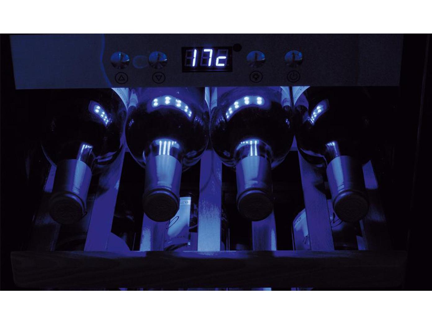profi weink hlschrank 66 flaschen 2 zonen winecooler weinklimaschrank ggg ebay. Black Bedroom Furniture Sets. Home Design Ideas