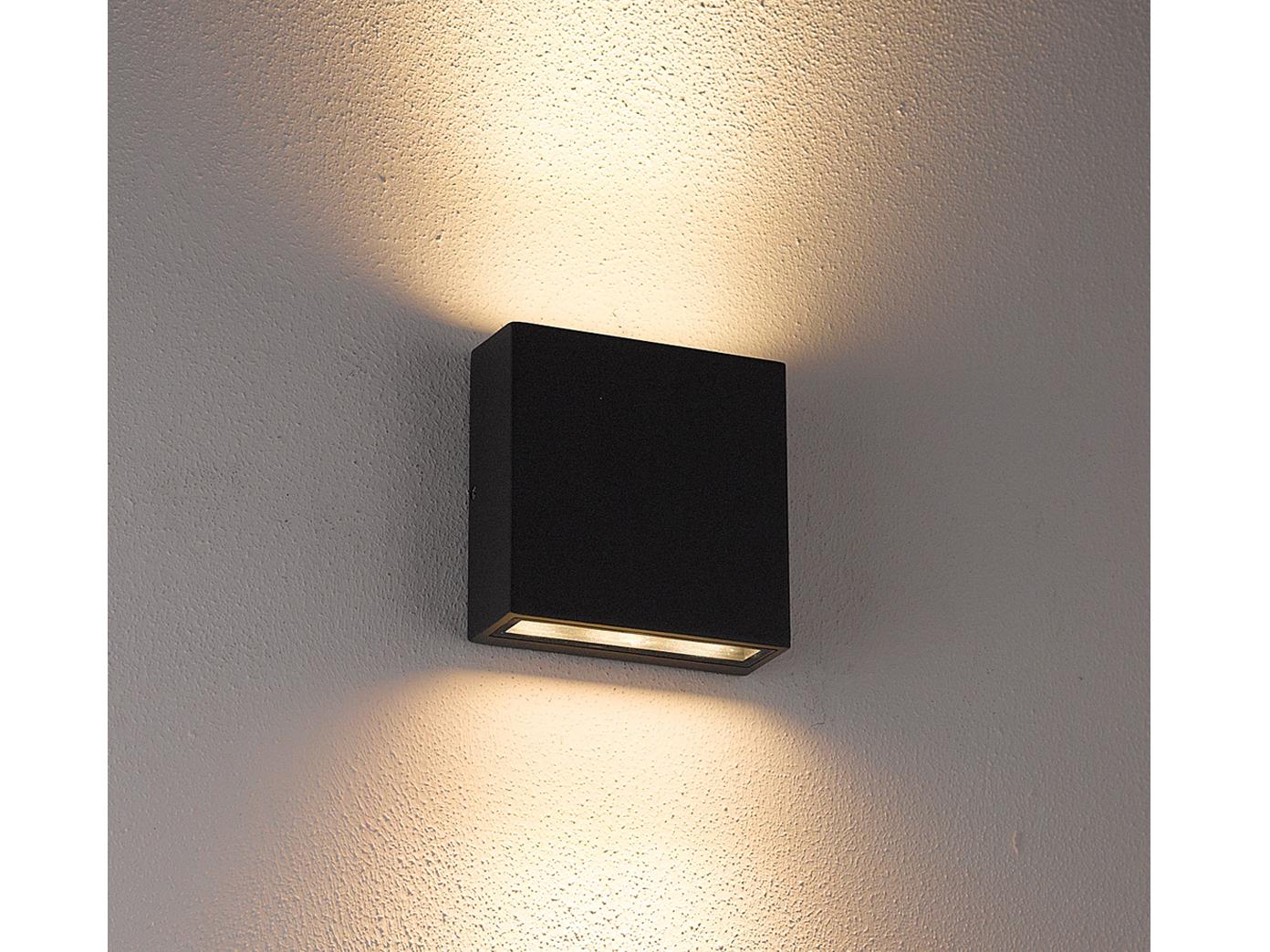 led au en wandleuchte thames anthrazit up down 2 x 3 watt ip54 ebay. Black Bedroom Furniture Sets. Home Design Ideas