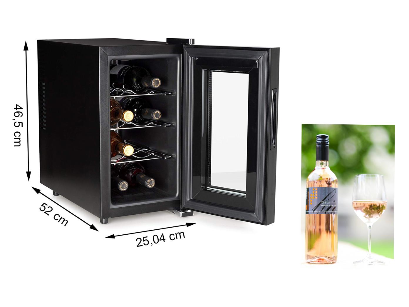 Kleiner Weinkühlschrank für 8 Flaschen - Weintemperierschrank ...