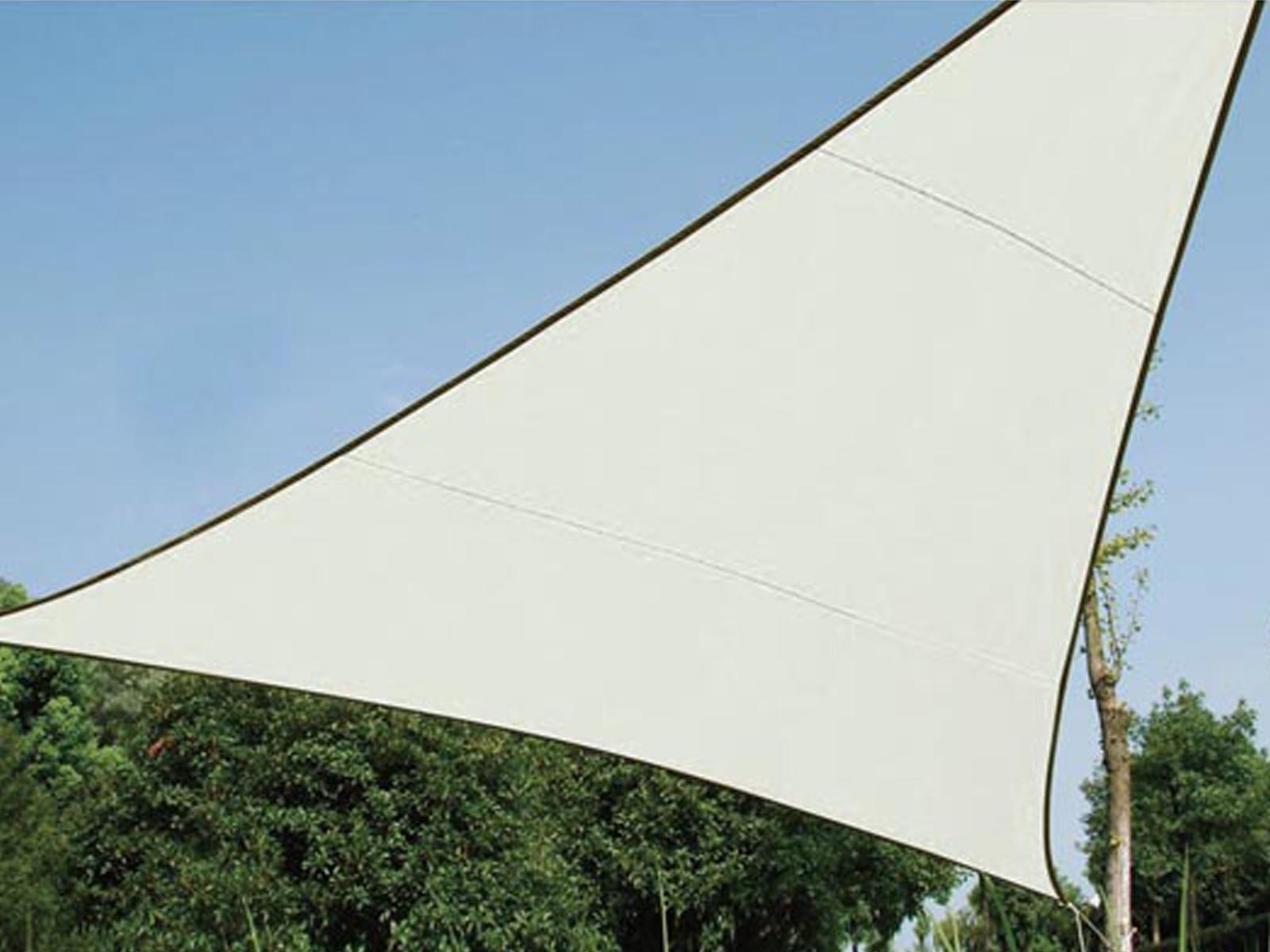 Sonnensegel Regenschutz PEREL, Cremefarben, 500 x 500 x 500 cm, Wasserabweisend
