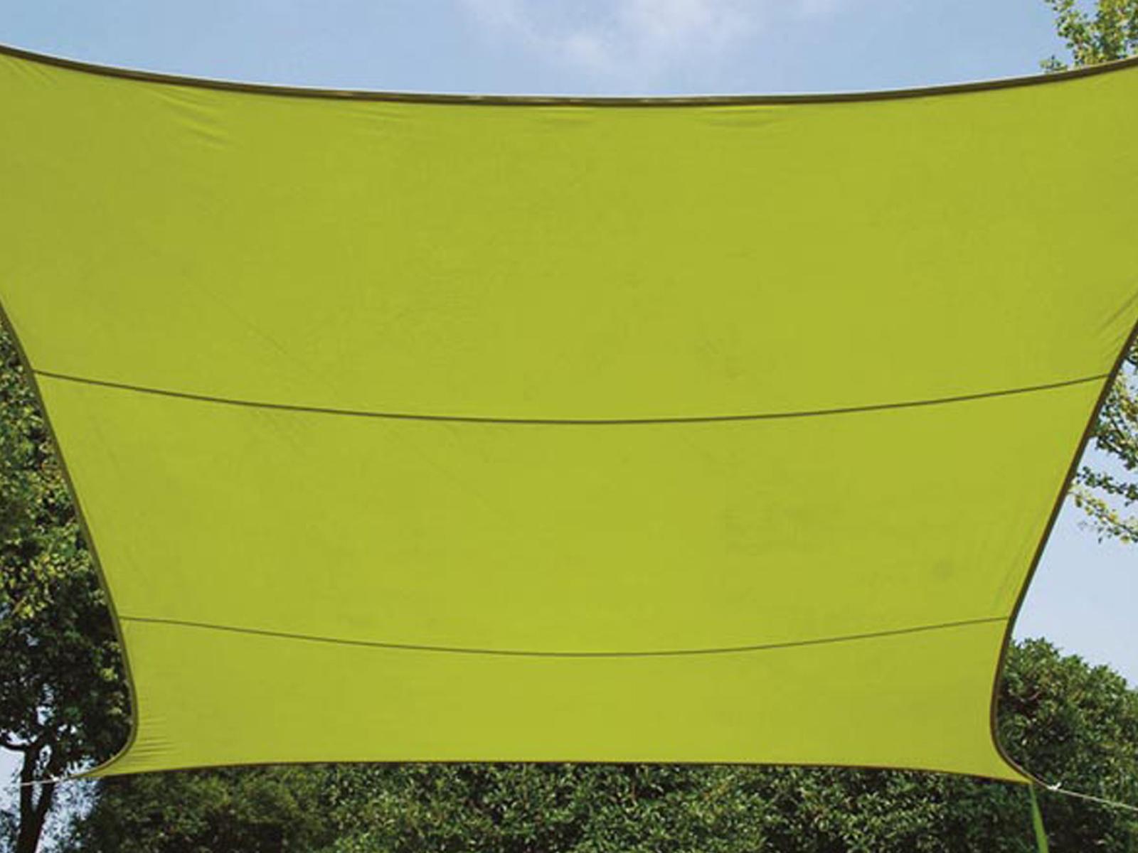 Sonnensegel Regenschutz PEREL, Lime Grün, 500 x 500 cm… |