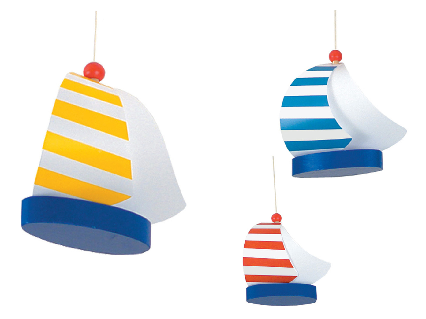 kinderzimmerlampe rund 53cm segelboote mobile deckenlampe f r kinderzimmer ebay. Black Bedroom Furniture Sets. Home Design Ideas