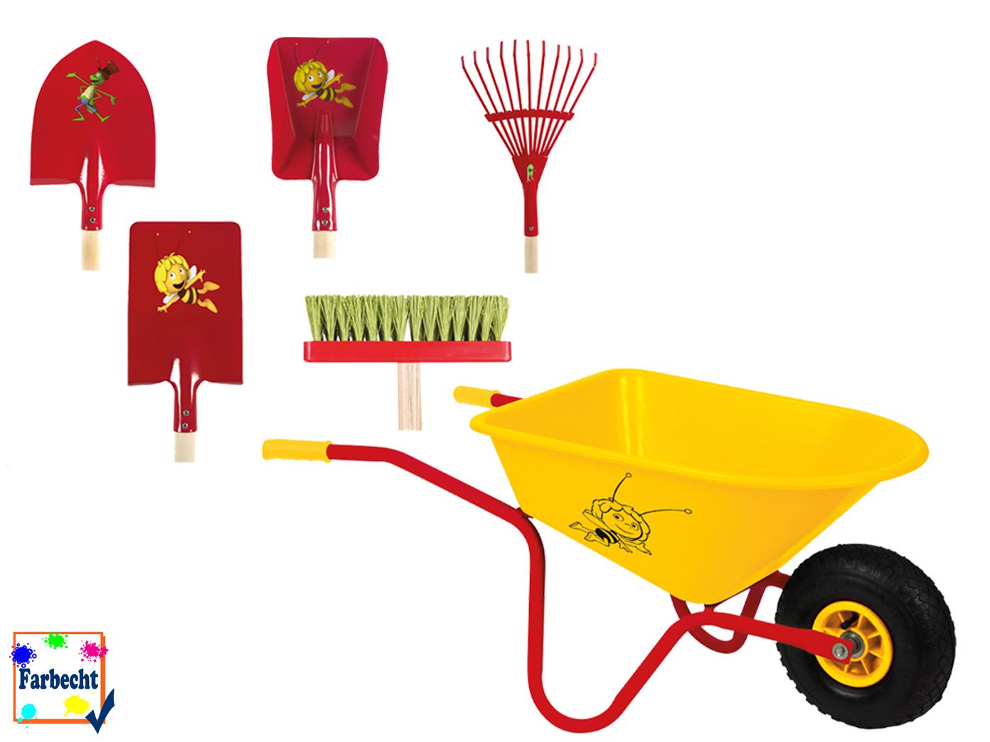 Gartengeräte-Set mit Schubkarre -DIE BIENE BIENE BIENE MAJA- Strandspielzeug 63693e