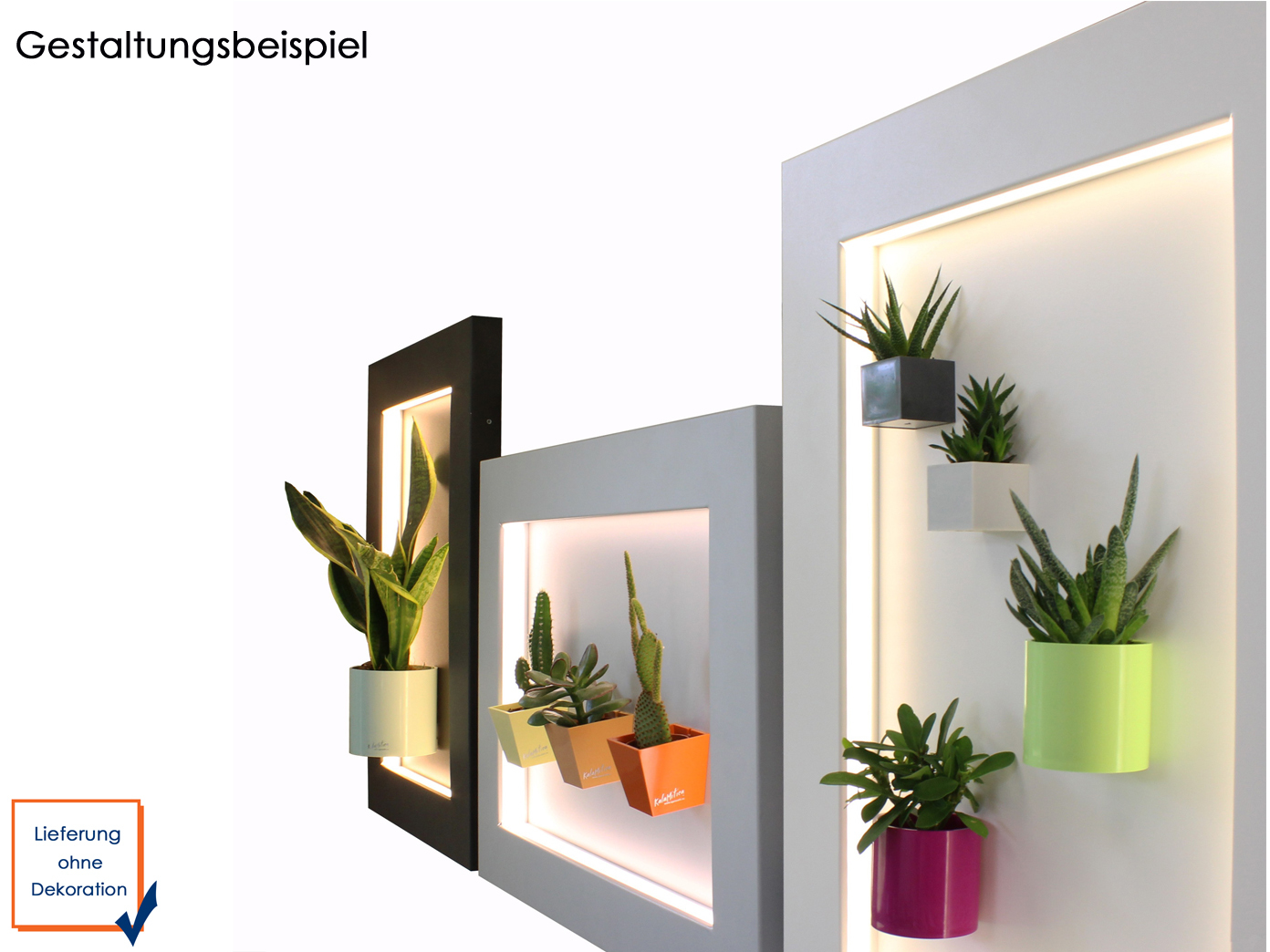 wanddeko magnettafel aus metall mit led beleuchtung 47 5 x. Black Bedroom Furniture Sets. Home Design Ideas
