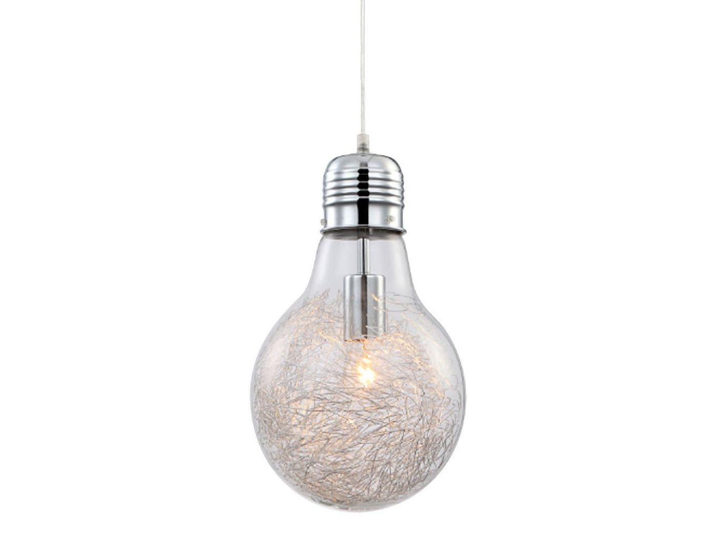 Schön Hängelampe Glühbirne Referenz Von Das Bild Wird Geladen Pendelleuchte-gluehbirne-chrom-glas-mit-alugeflecht-inkl-e27-