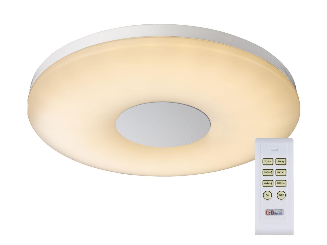 LED Deckenleuchte FELION dimmbar, Fernbedienung für Farbtemperatur, Deckenlampe