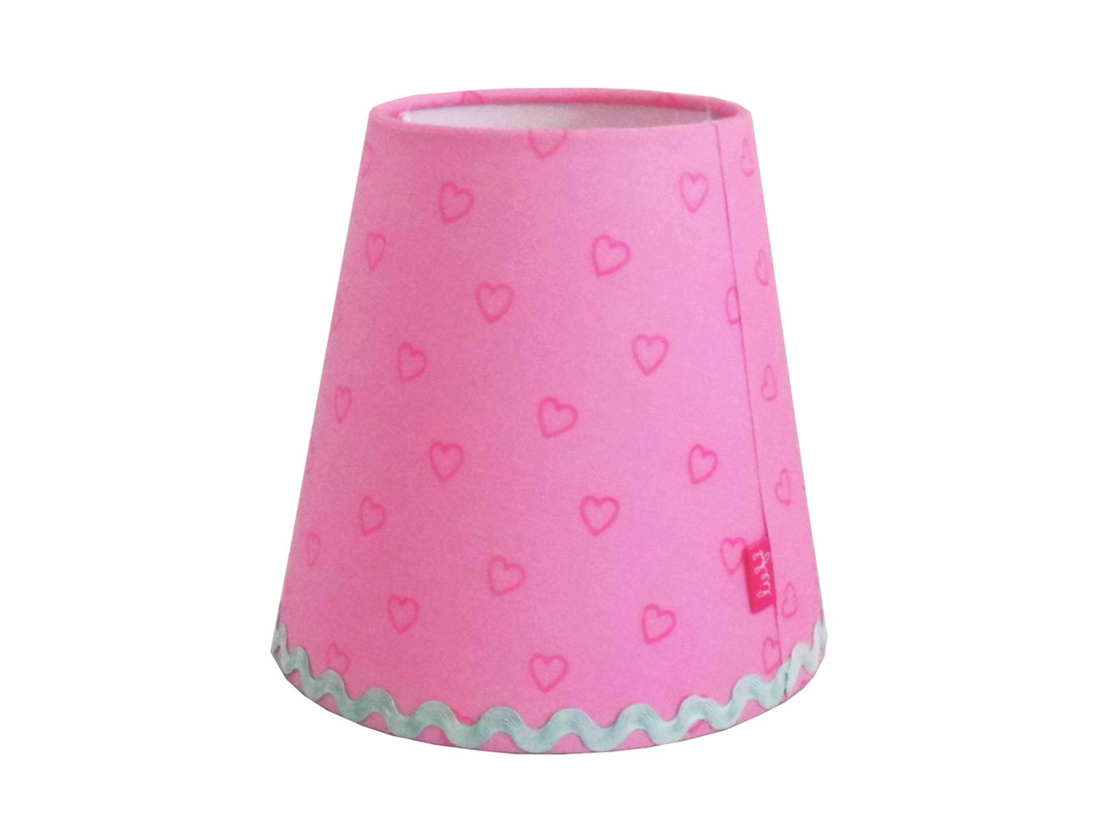 Kronleuchter Mit Schirm Rosa ~ Lampenschirm rosa mit herzen für lief kronleuchter und wandlampe