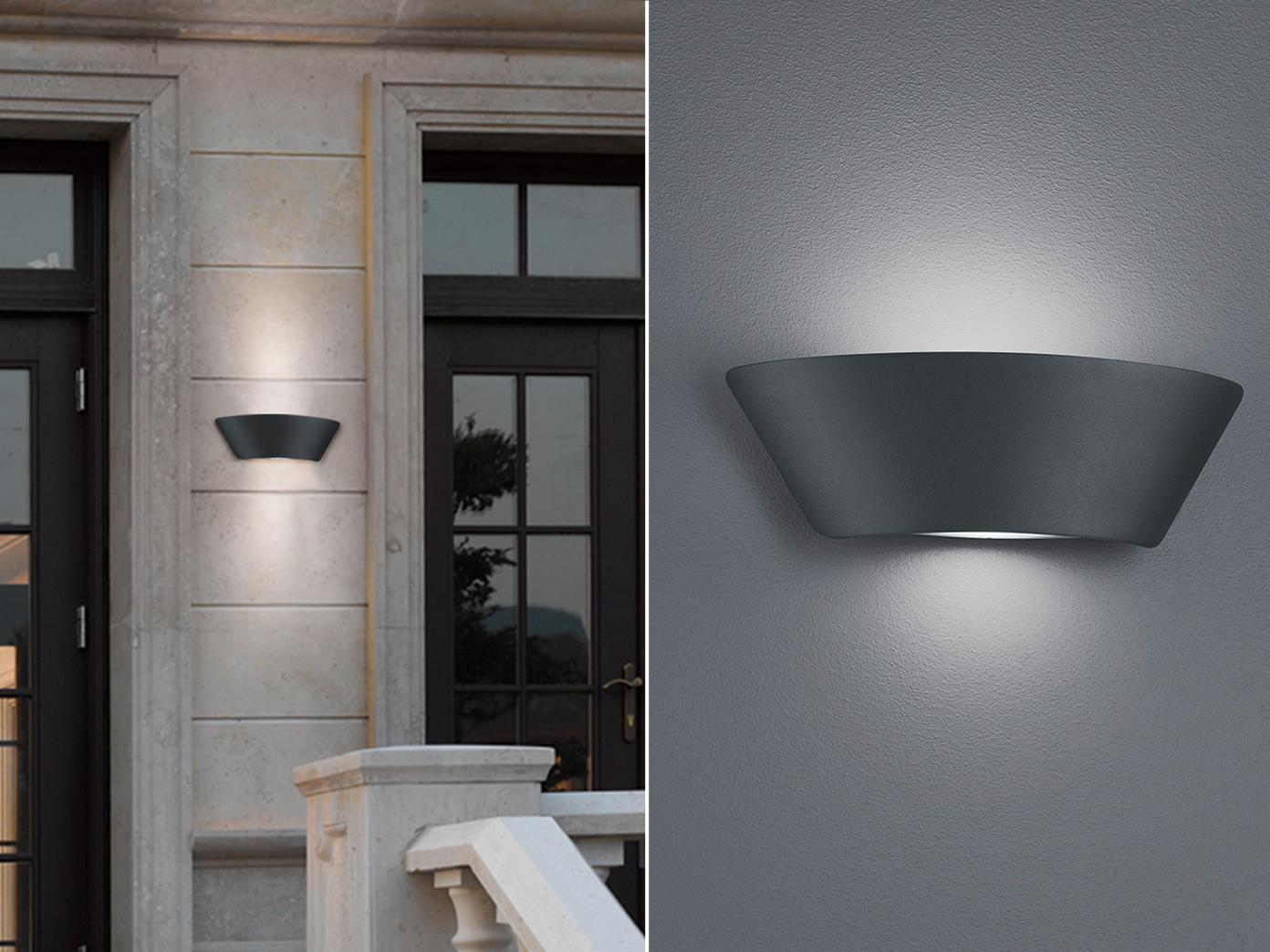Außenwandleuchte / Wandleuchte SCRAMENTO, inkl. LED Lampen, IP54, Trio