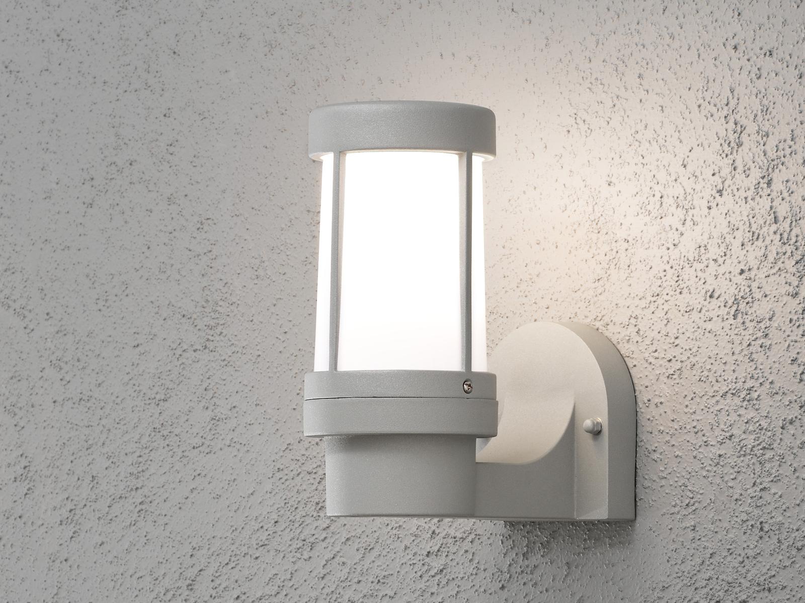 Unglaublich Außenbeleuchtung Terrasse Galerie Von Das Bild Wird Geladen Konstsmide-wandleuchte-siena-grau-dimmbar- Aussenbeleuchtung-terrasse--