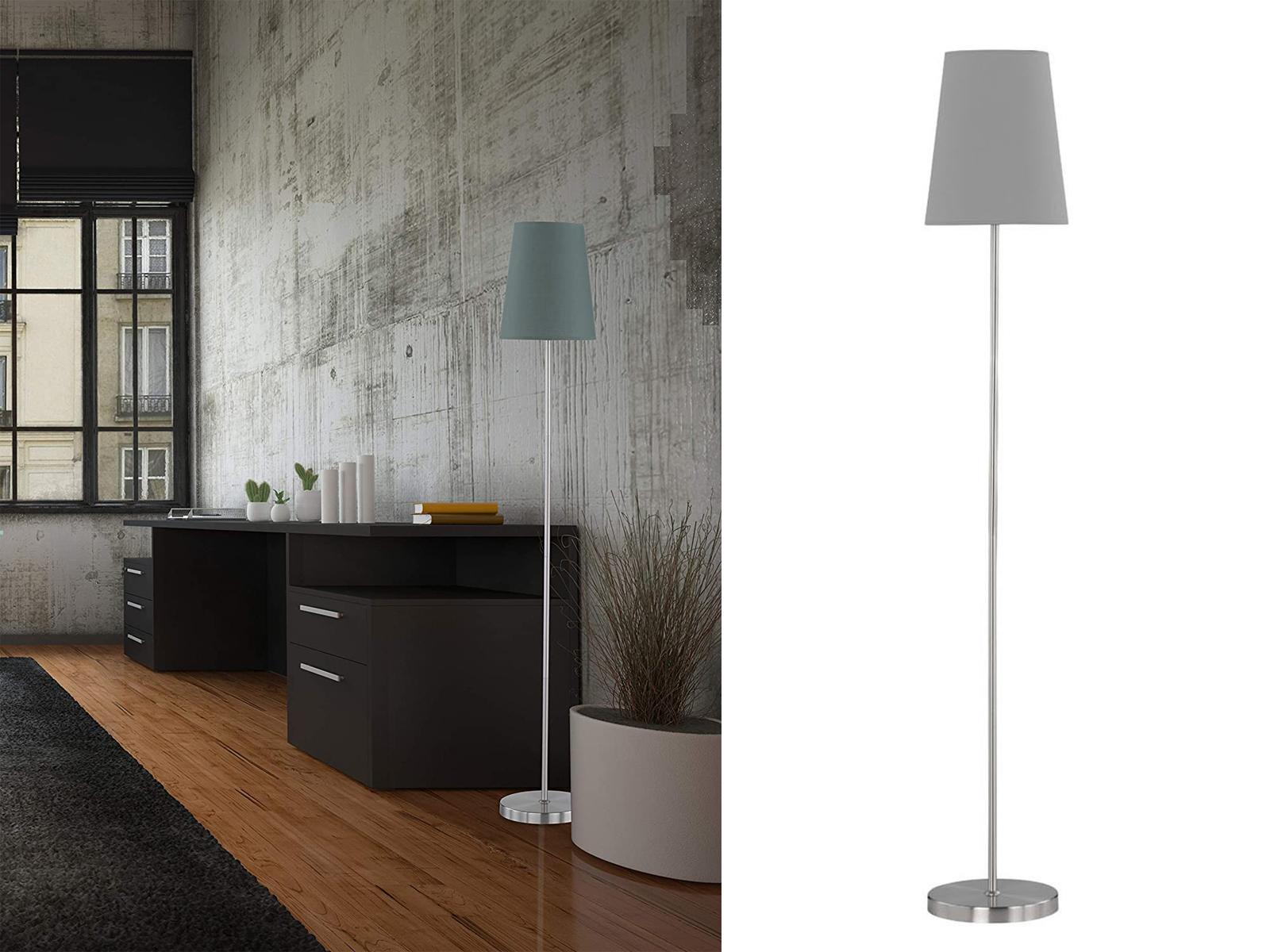 Genial Stehleuchte Mit Stoffschirm Foto Von Das Bild Wird Geladen Wofi-stehleuchte-fynn-stoffschirm -grau-e27-lampe-wohnzimmer-