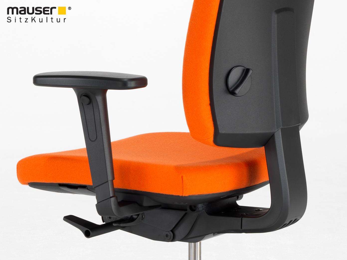 Sedie Ufficio Arancio : Sedia girevole arancio con sede regolazione in profondità d