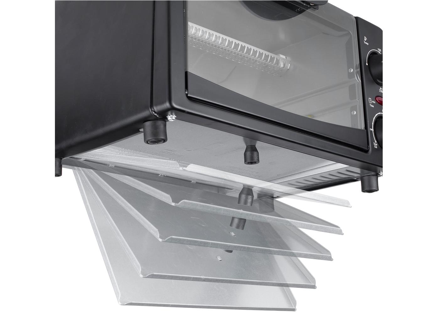miniofen 9 liter 800 watt unter oberhitze klein backofen. Black Bedroom Furniture Sets. Home Design Ideas