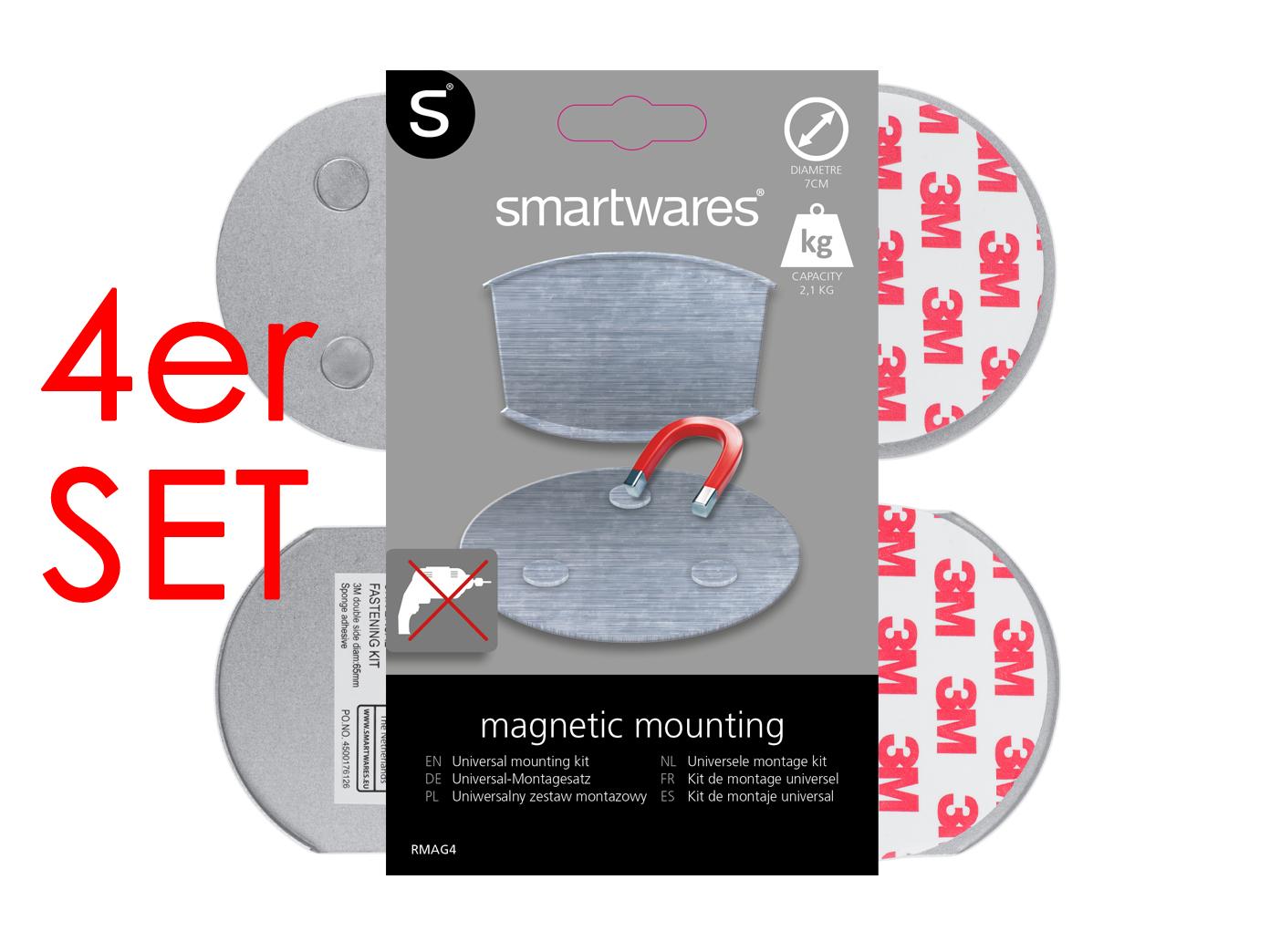 4er set magnetbefestigungen magnetplatte magnethalter f r. Black Bedroom Furniture Sets. Home Design Ideas