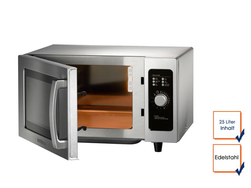 profi edelstahl mikrowelle grill hei luft 25 liter mikrowelle microwelle ebay. Black Bedroom Furniture Sets. Home Design Ideas