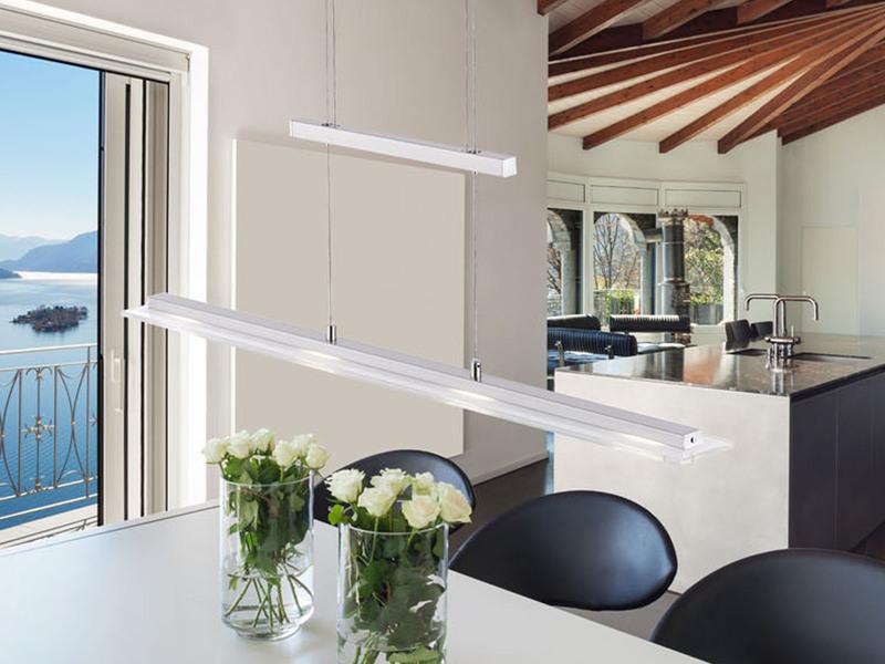 led pendelleuchte dimmbar und h henverstellbar fernbedienung f r farbwechsel ebay. Black Bedroom Furniture Sets. Home Design Ideas