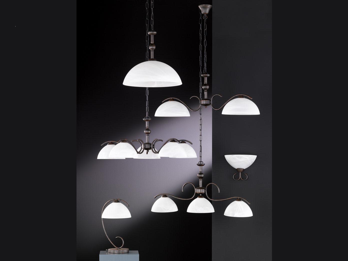 Künstlerisch Lampe 3 Flammig Foto Von Haengeleuchte-pendelleuchte-antik-lampe-3-flammig-glas-weiss-