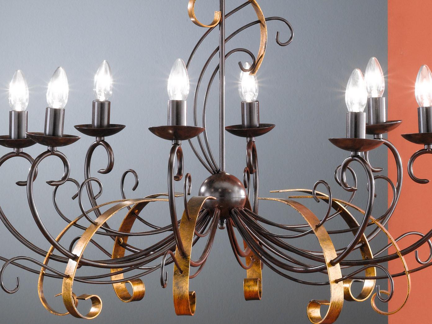 8-flg-Kronleuchter-im-Antik-Stil-90-cm-rost-gold-Honsel-Leuchten