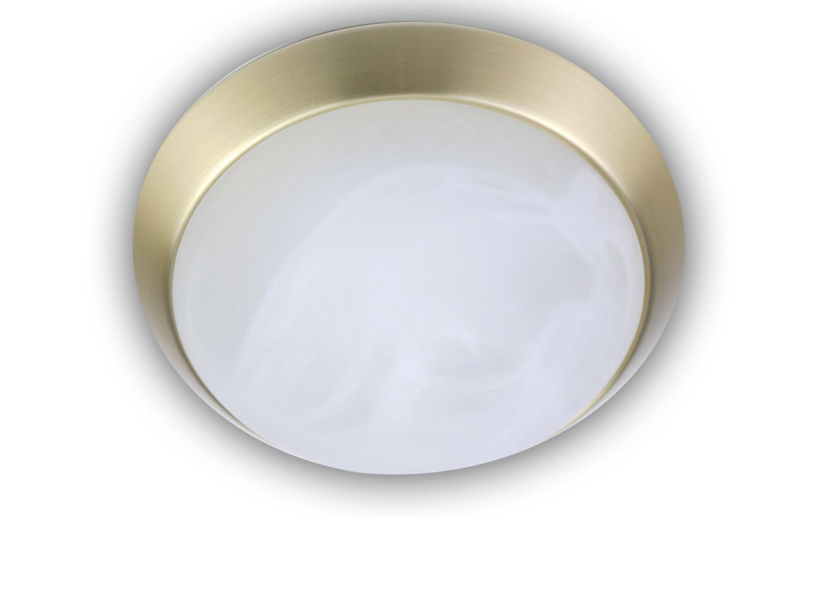 LED-Deckenleuchte-Glas-Alabaster-Messing-matt-35cm-LED-Schlafzimmerleuchte