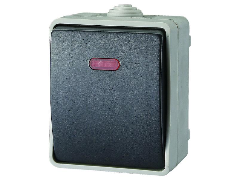 aufputz kontrollschalter feuchtraum wechselschalter mit. Black Bedroom Furniture Sets. Home Design Ideas