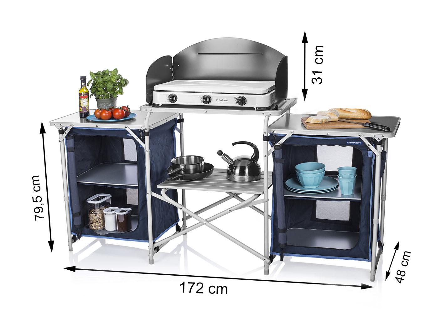XXL Campingküche faltbar zum Outdoor Kochen Partyküche Camping ...