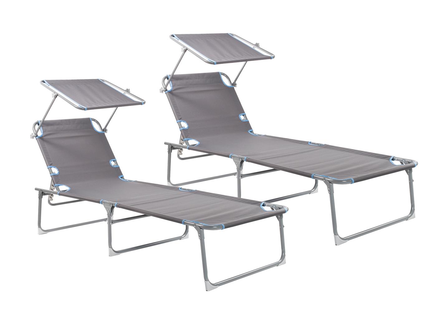 2er set dreibeinliege klappbar gartenliege alu kippliege b derliege relaxliege ebay. Black Bedroom Furniture Sets. Home Design Ideas