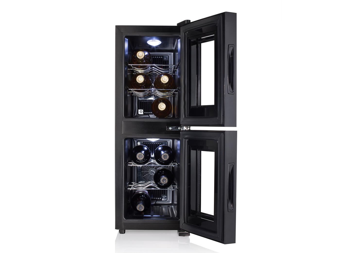 Kleiner Weinkühlschrank : Weinkühlschrank 2 zonen für 12 flaschen weinklimaschrank
