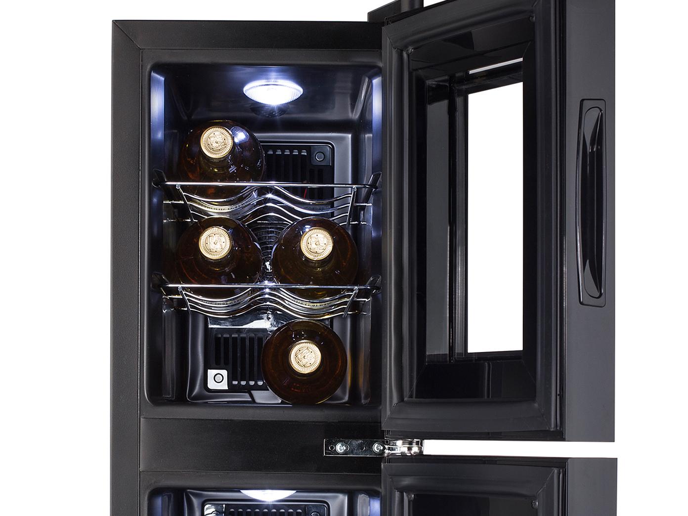 Kleiner Weinkühlschrank : Weinkühlschrank zonen für flaschen weinklimaschrank